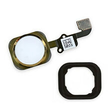 "Gold Home Button Flex Cable Ribbon Assembly For iPhone 6 4.7"" Plus 5.5"" OEM"