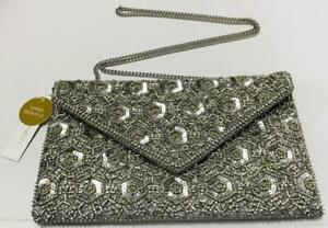 Accessorize-Tamara Embellished Clutch Bag - Silver-One Size (Brand New With Tag)