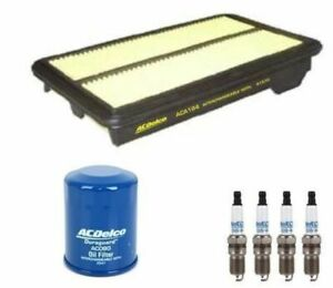 OIL AIR FILTER SPARK PLUGS ACDelco SERVICE KIT suitable for HONDA CIVIC 1.8l FD