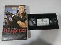 Set de Dragons Dolph Lundgren Isaac Florentine VHS Tape Spanish