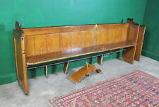 Long Vintage Church Pew, Bench Seatng, Pine, Refurb Project, Kitchen, Hallway