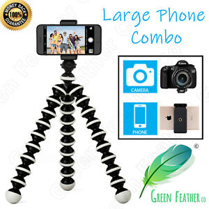 LARGE Flexible Gorilla Tripod | the Original Phone Combo | iPhone Samsung Camera