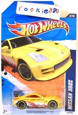 2011 Hot Wheels NIGHTBURNERZ #112 * NISSAN 350z * YELLOW LEEWAY FUKUOKA USLC
