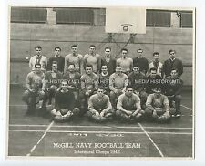 Vintage Photograph, McGill Navy Football Team, Intramural Champs, 1942