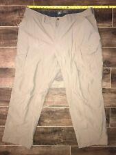 REI ~ Men's Hiking Pants ~ 2XL ~ Khaki ~ Nylon Pockets ~ UPF 50+