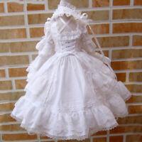 BJD Clothes YoSD Dress (White) - for 1/6 doll - SZ01
