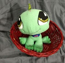 LPS Green Iguana Plush Blue Collar Littlest Petshop Hasbro
