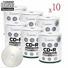 6000-Pack SmartBuy Silver Inkjet Hub Printable CD-R 52X 700MB/80Min Record Disc