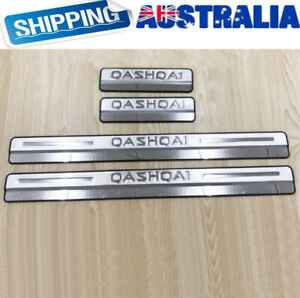 Door Sill Scuff Plate, Stainless Steel Guards For Nissan Qashqai 2015-2020