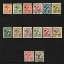 1931 New Guinea Birds Air Stamps SG 163/76 Mix Set of 14 Mint & Used