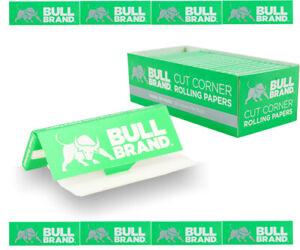 2500x BULL BRAND GREEN Tobacco Regular Cigarette Rolling Papers Cut Corners