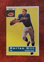 Harlan Hill 1956 Topps Football Card # 59 Chicago Bears Tight End