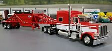 1/64 DCP PETERBILT 389 RED & WHITE WITH BOTTOM DUMP TRAILER NEW IN BOX