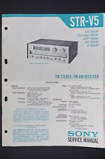 Sony str-v5 originale Manuel de service/manuelle/AMPLIFICATEUR ! O14