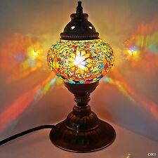 Turkish Moroccan Colourful Lamp Light Tiffany Style Glass Desk Table UK SELLER