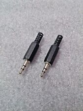 "1 Pair Stereo 3.5mm Jack Plug Connector - TRS (1/8 Inch"") - Headphone AUX Plug"