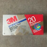 "Lot of 20 3M High Density DS,HD 3.5"" Diskettes - NEW SEALED"