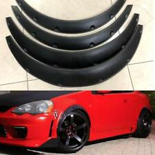 "3.5""/90mm 4X Universal Flexible Car Fender Flares Extra Wide Body Wheel Arches"