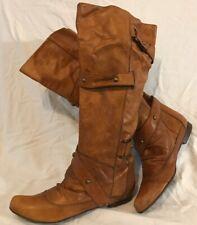 Tsakiris Mallas Tan Knee High Leather Lovely Boots Size 40 (467Q)