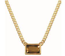 Modeschmuck-Halsketten & -Anhänger im Collier-Stil aus Glas mit Kristall