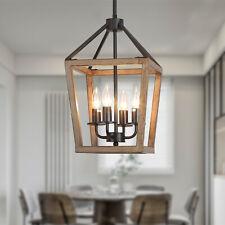 4-Light Farmhouse Pendant Chandelier,Vintage Island Light Kitchen Dining Room US