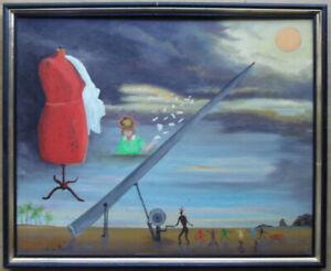 Peintures Du Xxe Siecle Et Contemporaines Sur Panneau Pour Surrealisme Ebay