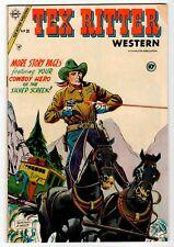 TEX RITTER WESTERN #26 - Charlton 1954 VG Vintage Comic