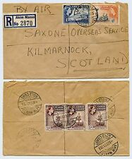 GOLD COAST AKIM MANSO REGISTERED AIRMAIL to SCOTLAND 1955