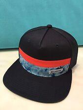 Billabong Men's Snapback Flat bill Hat, Navy/Red