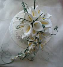 Large Cake Topper Shower Bouquet White Calla Lily Wedding Flowers
