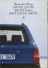 Mercedes Benz W124 Estate 1985-86 Original German Foldout Sales Brochure