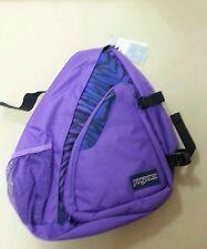 Jansport Air Cisco Black Prism Purple Flashback Zebra Messenger Backpack