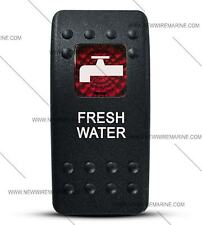 Labeled Contura II Rocker Switch Cover ONLY, Fresh Water (Red Window)