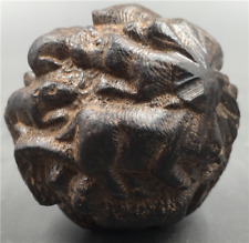 China Hand Carved natural wooden 12 Zodiac ball statue - tiger dragon horse