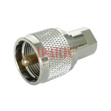 RF Coaxial 50ohm Brass Straight UHF M PL259 Male Plug to FME Male Plug Connector