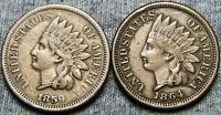 1859 1864 Copper Nickel Indian Cent Penny Lot ---- Nice Lot ----  #W534