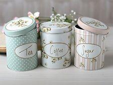 Creative Tops Katie Alice Cottage Flower Coffee,Tea, Sugar Storage Tins, Set of