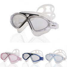 Unisex Adult Wide Frame Super Clear Anti Fog Lens Swimming Goggles Swim Glasses
