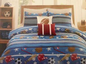 5 pc OYO Thomas Sports Full Comforter, Shams, & Decorative Pillows Set NIP
