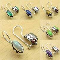 Many Choices !! 925 Silver Plated LABRADORITE & Other Stone FASHION Earrings