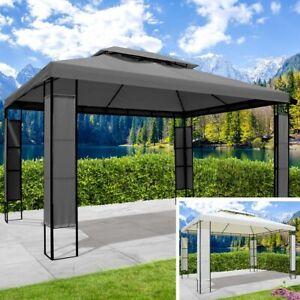 BRAST Pavillon Stahl 3x4m Beige Anthrazit 30kg Garten Pavilon Pavillion Festzelt