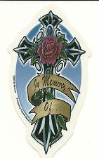 "In Memory Of.... Vinyl Car Sticker/Decal 5"" x 3"""