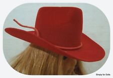"""RED Western COWBOY DOLL HAT fits 18"""" AMERICAN GIRL Doll Clothes Accessory"""