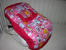 NEW INFANT CAR SEAT CARRIER COVER M/W HELLO KITTY FABRIC
