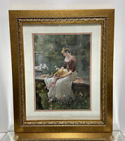"Victorian Style Modern Picture Frame With Matting and Glass Fits 16""x 20"""