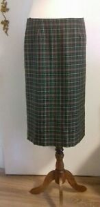 Allens of Harrogate Ladies Wool Checked Pencil Skirt Size 12