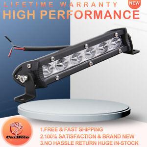 """7"""" 18W Spot LED Slim Flood Light Bar Work Lamp Driving Offroad For SUV ATV Truck"""