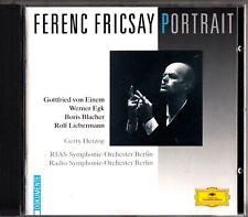 FERENC FRICSAY PORTRAIT CD- Gerty Herzog- Von Einem/Egk/Blacher/Liebermann DG