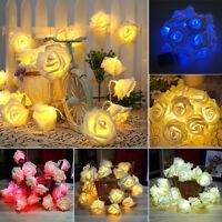20LED…Rose Flower Wedding Festival Party Christmas Decor Xmas String Fairy Light
