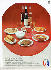PUBLICITE ADVERTISING 115  1966  PRISUNIC  made in USA la bonne table américaine